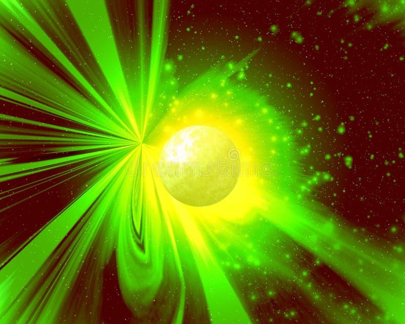 Indicatore luminoso di un pianeta novello royalty illustrazione gratis