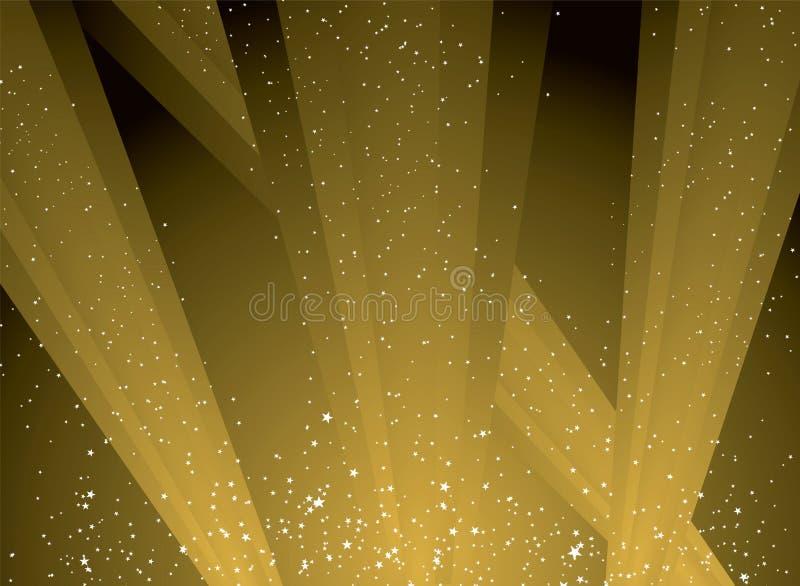 Indicatore luminoso dorato illustrazione di stock