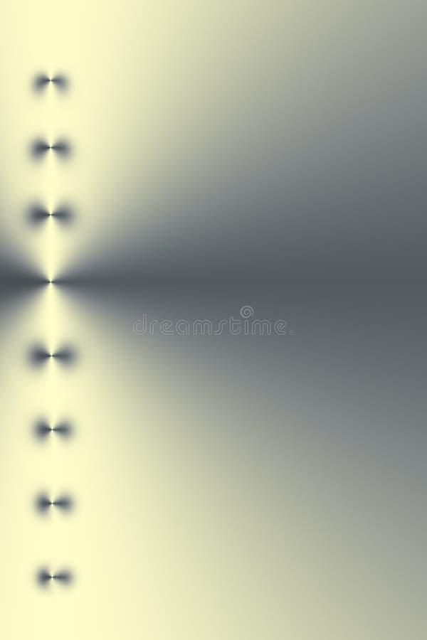 Indicatore luminoso dorato metallico illustrazione di stock
