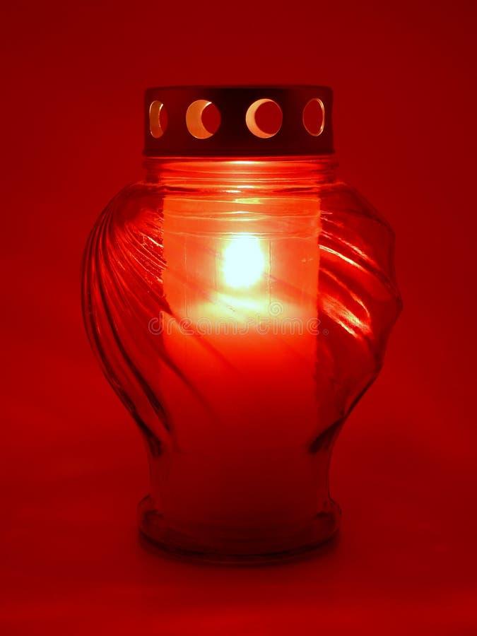 Indicatore luminoso grave rosso immagine stock