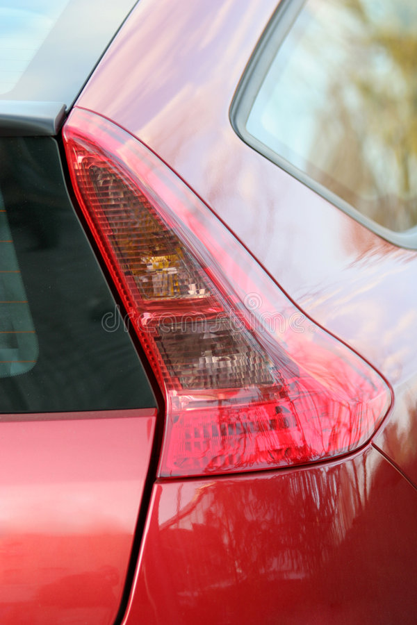 Indicatore luminoso posteriore dell'automobile fotografia stock libera da diritti