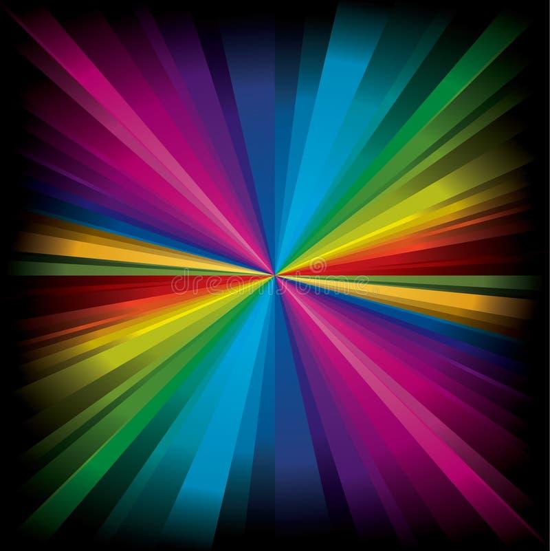Indicatore luminoso radiale magico del Rainbow illustrazione vettoriale
