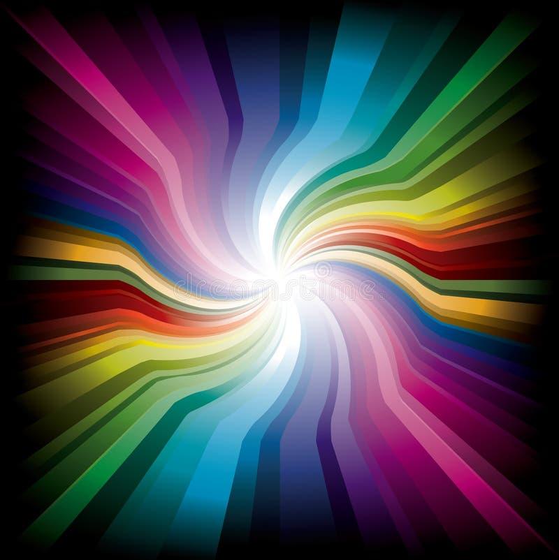 Indicatore luminoso radiale magico del Rainbow royalty illustrazione gratis