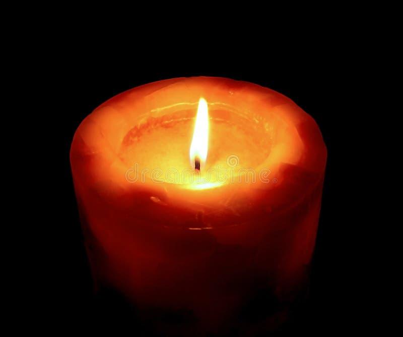 Luce romantica della candela immagini stock libere da diritti