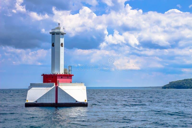 Indicatore luminoso rotondo del passaggio dell'isola fotografia stock libera da diritti