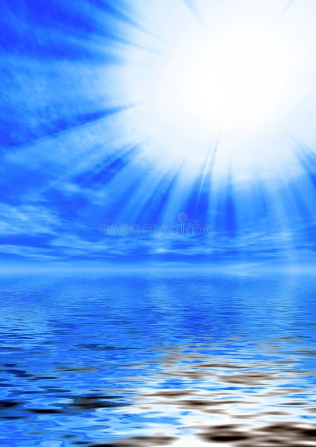Indicatore luminoso santo illustrazione di stock