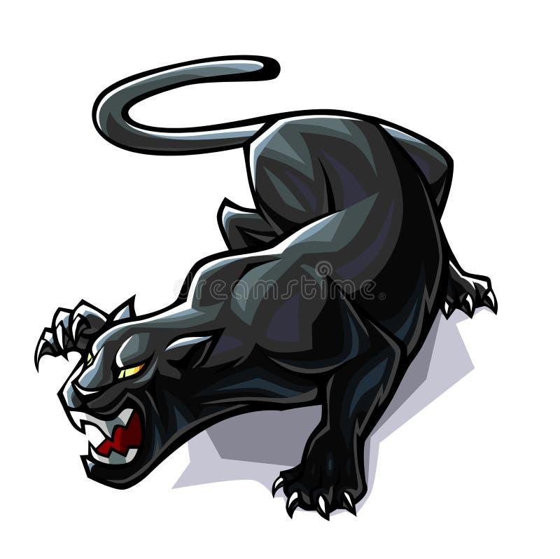 Indicatore luminoso stilizzato della pantera royalty illustrazione gratis