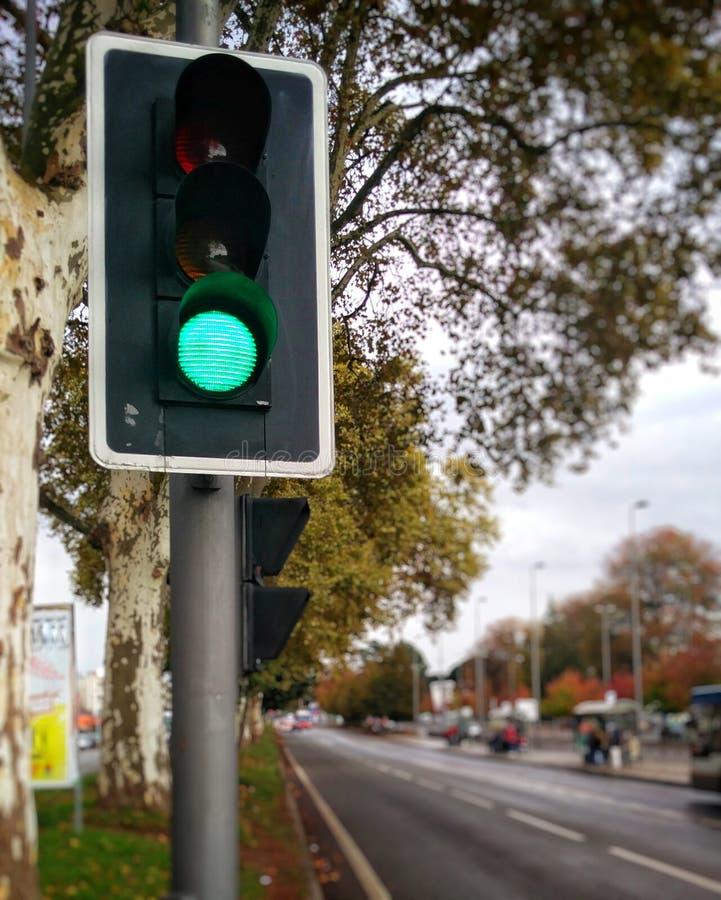 Indicatore luminoso verde immagine stock libera da diritti
