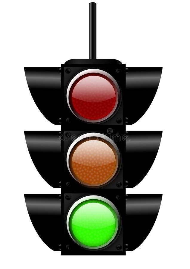 Indicatore luminoso verde royalty illustrazione gratis