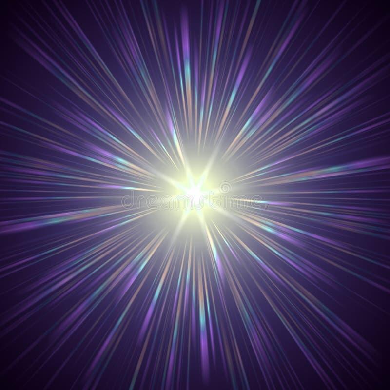 Indicatore luminoso viola royalty illustrazione gratis