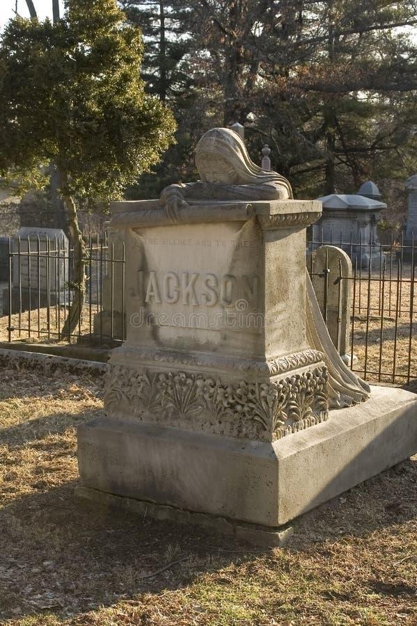 Indicatore piangente della tomba della donna immagine stock