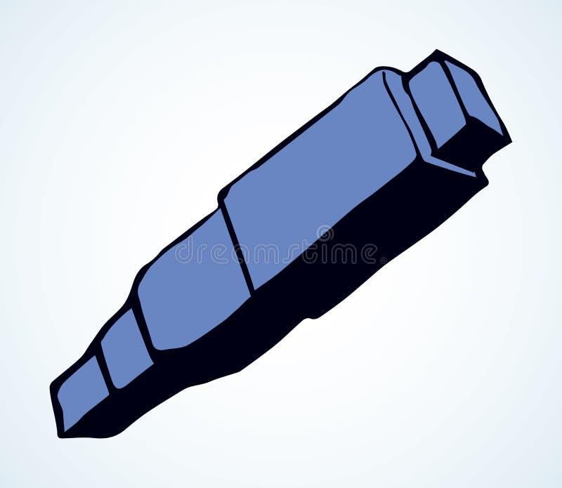 indicatore Segno dell'icona del disegno di vettore illustrazione di stock