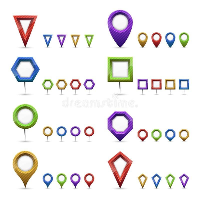 Indicatori della mappa illustrazione vettoriale