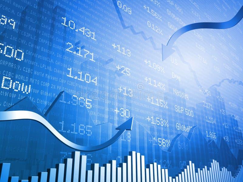 Indicatori di riserva con 3D su e giù le frecce illustrazione di stock