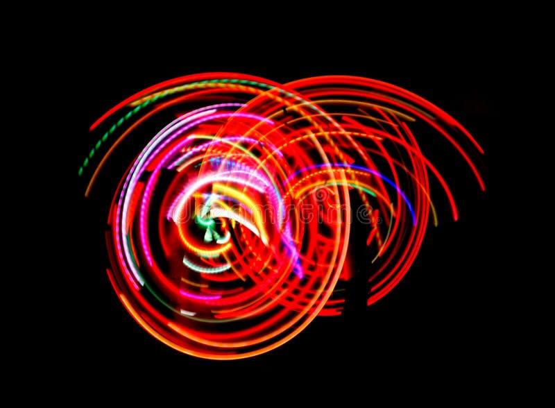 Indicatori luminosi al neon di ballo fotografia stock