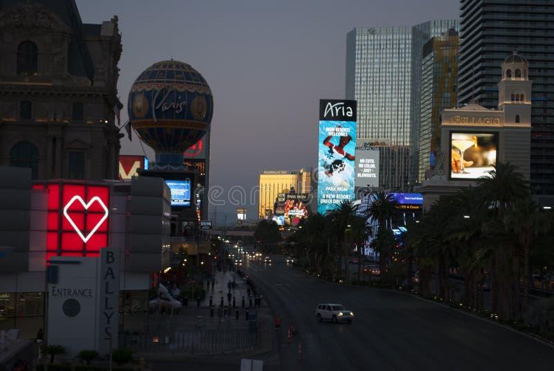 Indicatori luminosi al neon di Las Vegas fotografie stock