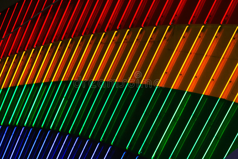 Indicatori luminosi al neon luminosi immagini stock