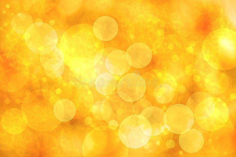 Indicatori luminosi arancioni astratti del bokeh fotografie stock