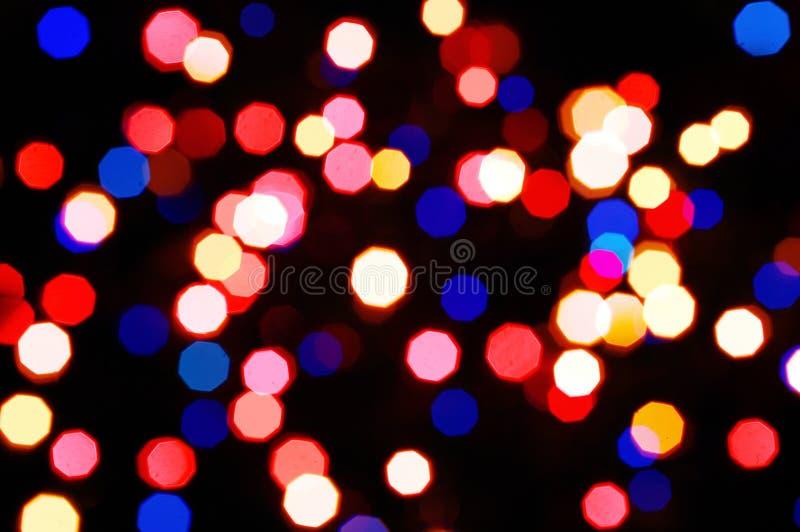Indicatori luminosi astratti di festa fotografia stock libera da diritti