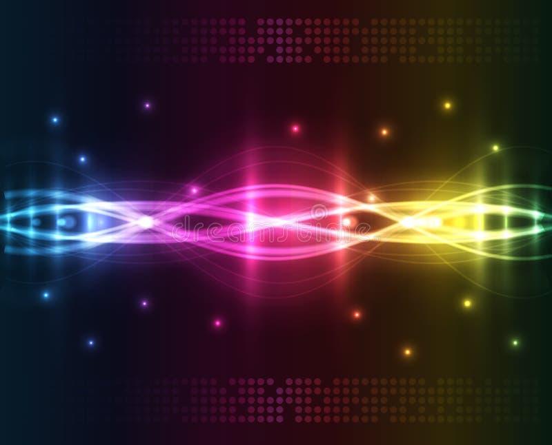Indicatori luminosi astratti - priorità bassa colorata illustrazione di stock