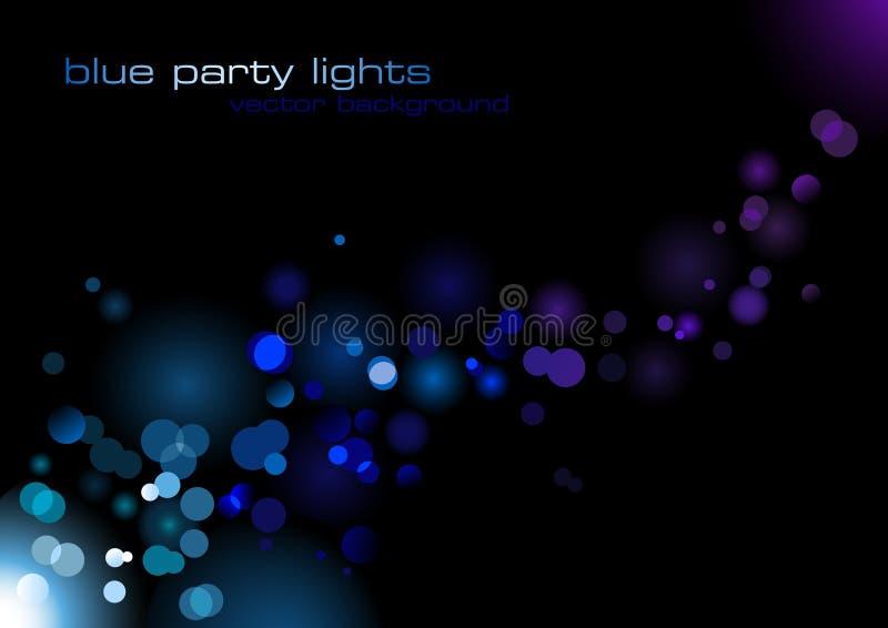 Indicatori luminosi blu del partito illustrazione vettoriale
