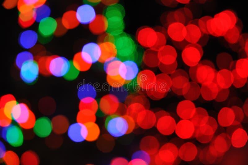 Indicatori luminosi Defocused dell'albero di Natale fotografia stock libera da diritti
