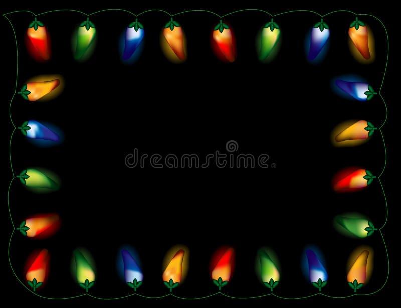 Indicatori luminosi del pepe di peperoncino rosso, multicolori illustrazione vettoriale
