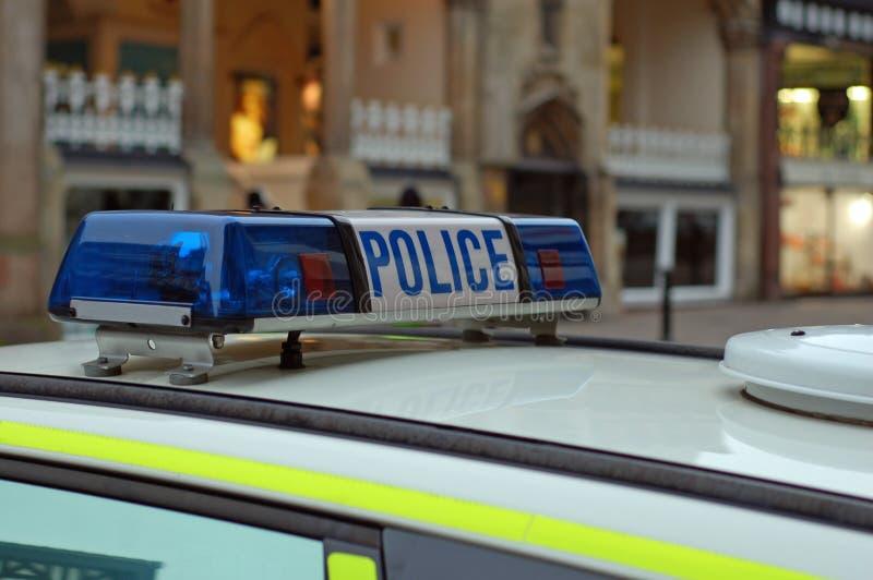 Indicatori luminosi del volante della polizia. immagine stock libera da diritti