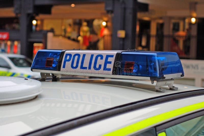 Indicatori luminosi del volante della polizia immagine stock libera da diritti