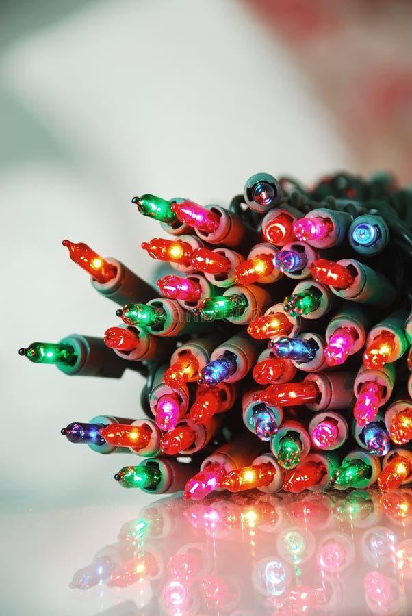 Indicatori luminosi dell'albero di Natale immagini stock libere da diritti