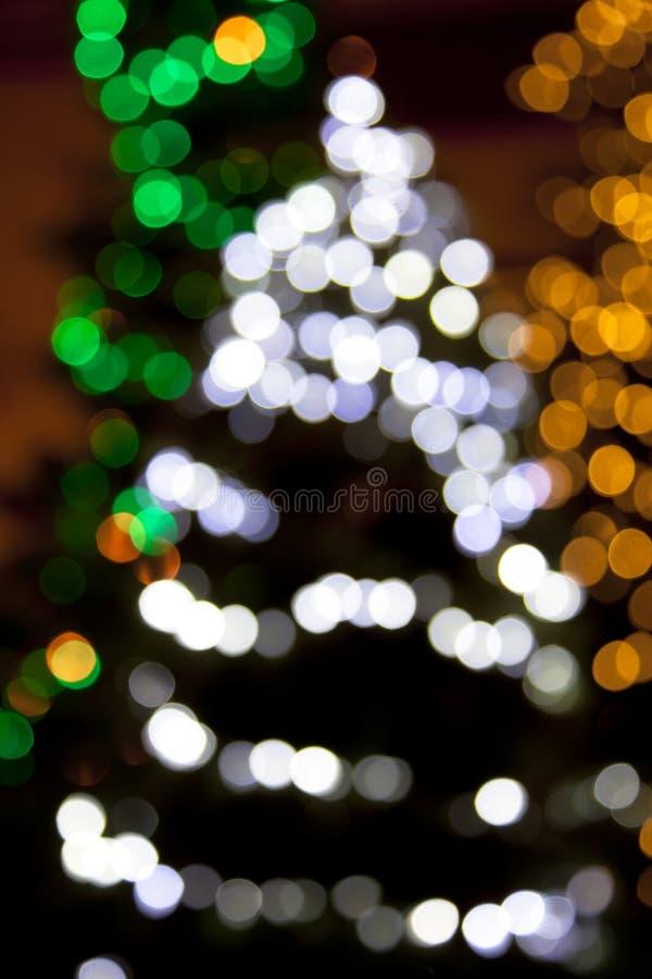 Indicatori luminosi dell'albero di Natale fotografie stock libere da diritti