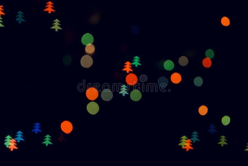 Indicatori luminosi dell'albero di Natale immagine stock libera da diritti