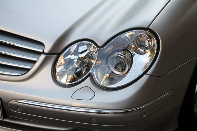 Indicatori luminosi dell'automobile fotografia stock