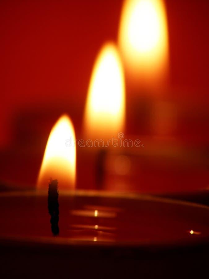 Indicatori luminosi della candela fotografie stock