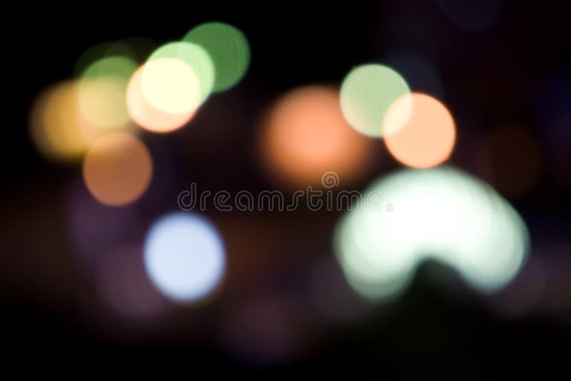 Indicatori luminosi della città immagine stock