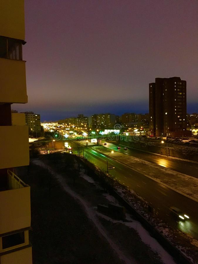 Indicatori luminosi della città immagini stock