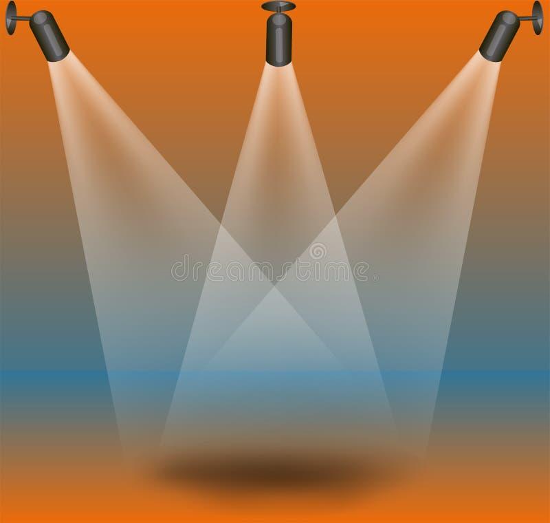 Indicatori Luminosi Della Fase Fotografia Stock Libera da Diritti