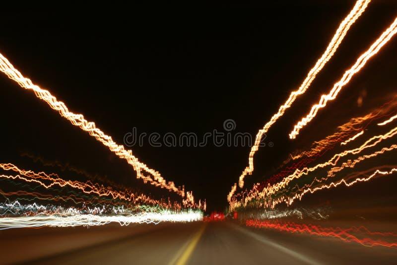 Indicatori luminosi della strada principale immagine stock