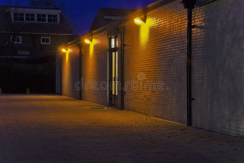 Indicatori luminosi di Backstreet immagine stock libera da diritti