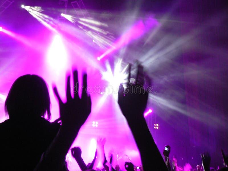 Indicatori luminosi di concerto fotografie stock libere da diritti