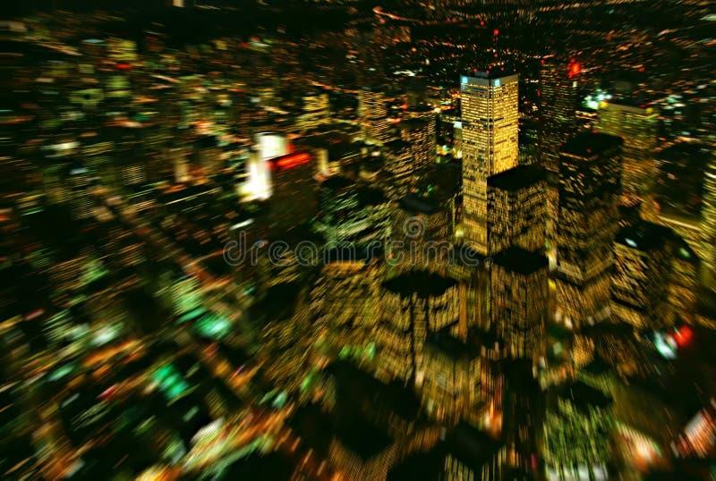 Indicatori luminosi di grande città fotografia stock