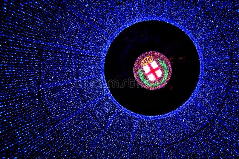 Indicatori luminosi di Milano fotografia stock libera da diritti