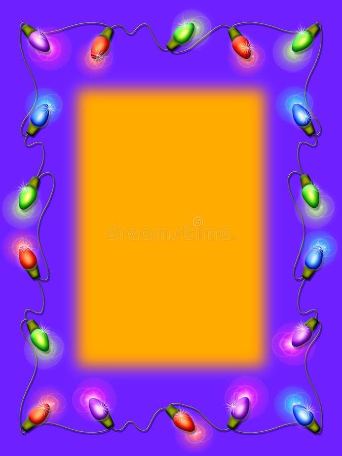 Indicatori luminosi di natale illustrazione di stock