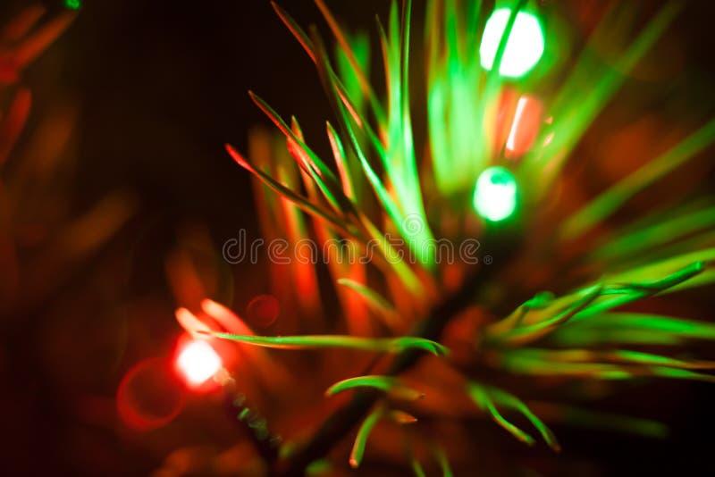 Indicatori luminosi di natale fotografie stock