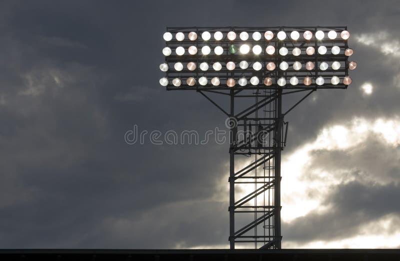 Indicatori luminosi di notte di venerdì fotografia stock libera da diritti