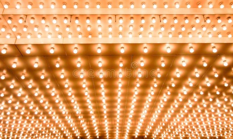 Indicatori luminosi di teatro fotografie stock
