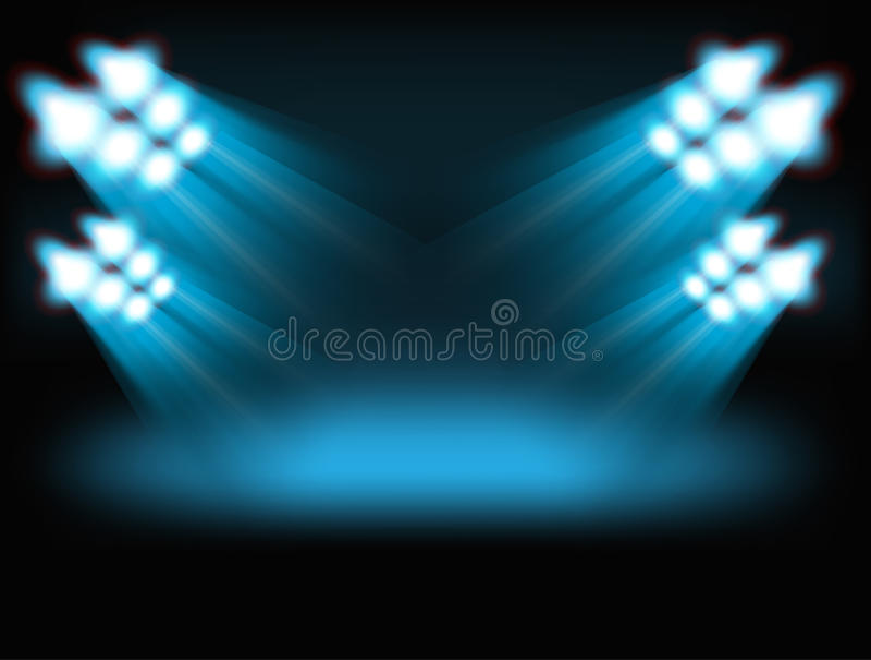Indicatori luminosi luminosi del punto royalty illustrazione gratis