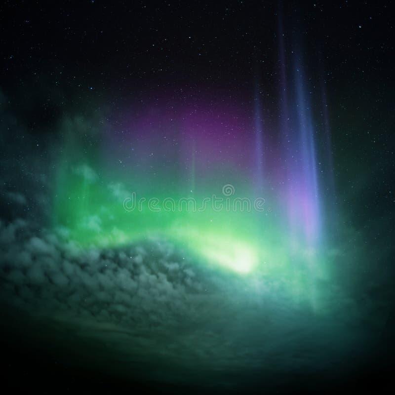 Indicatori luminosi nordici (aurora) fotografia stock libera da diritti