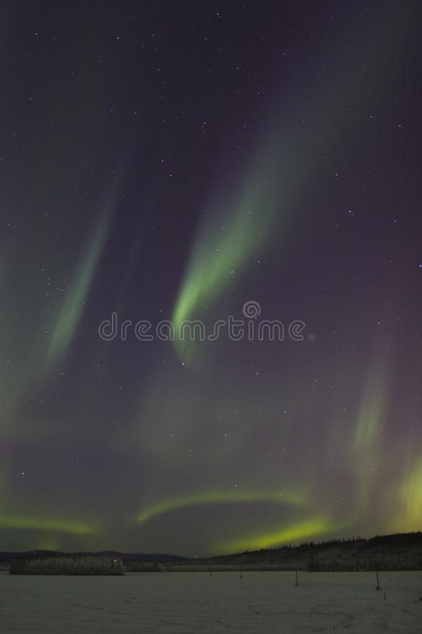Aurora boreale sporadica fotografie stock