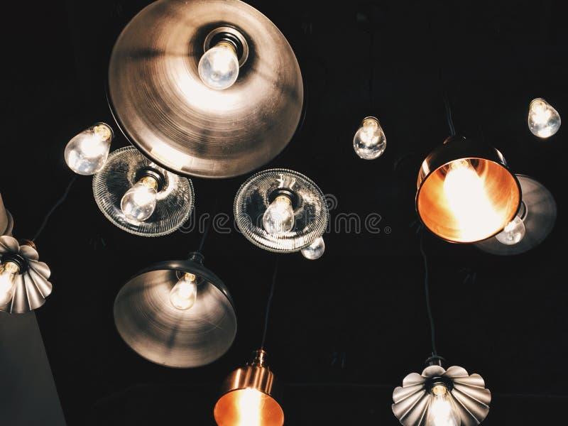 Indicatori luminosi scuri fotografia stock